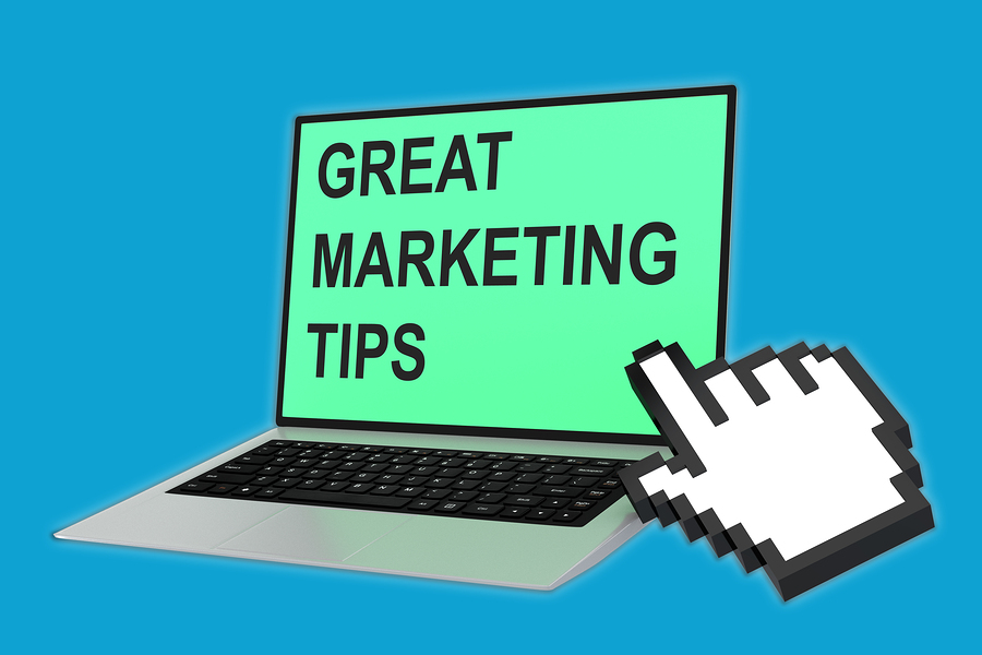 marketing tips concept